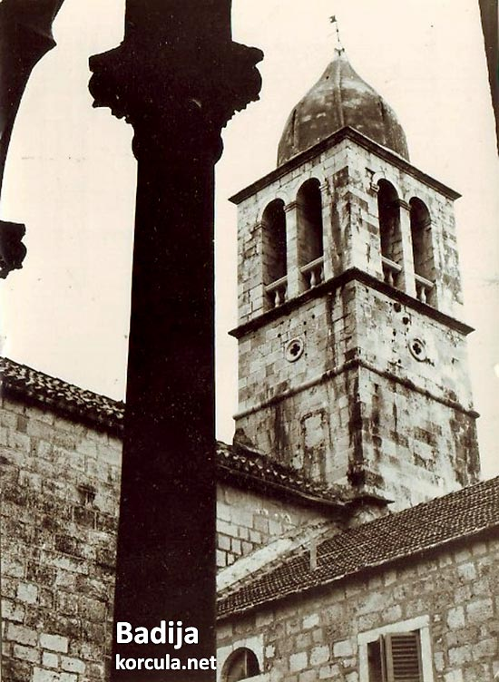 The church tower on Badija