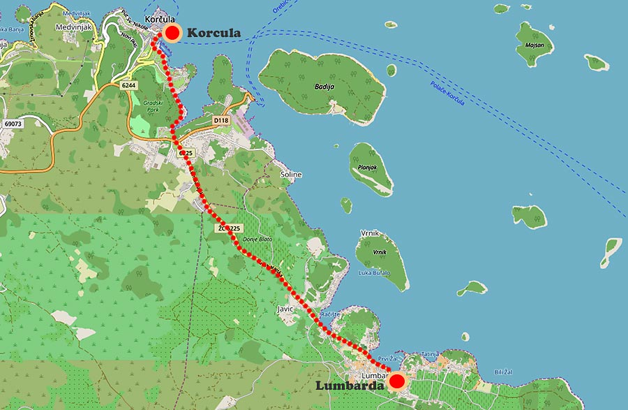 Map of the route