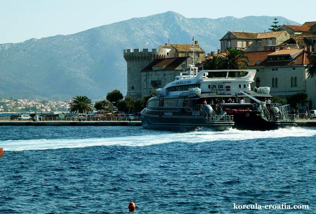 Korcula by catamaran from Split