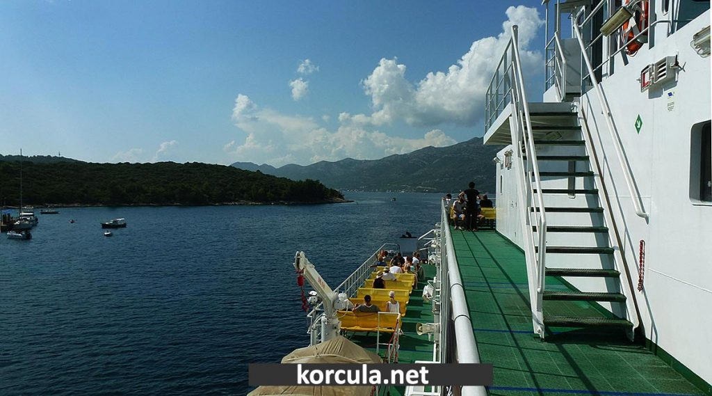 Car and passenger ferry from Korcula Town to Orebic