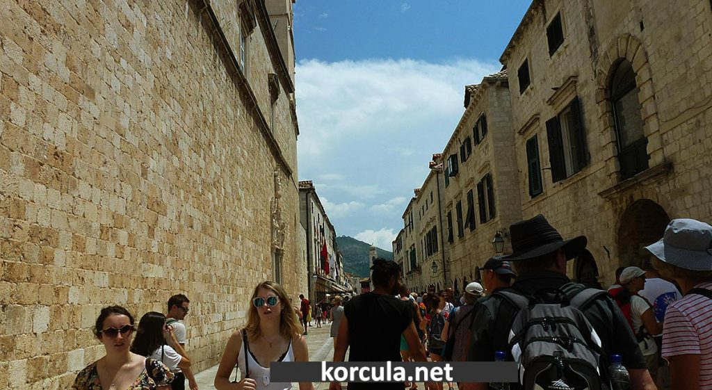 Walk along Stradun in Dubrovnik Old Town