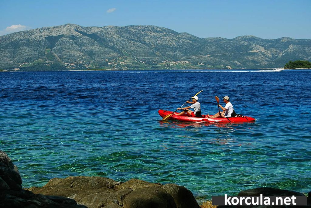 Kayaking in Korcula archipelago