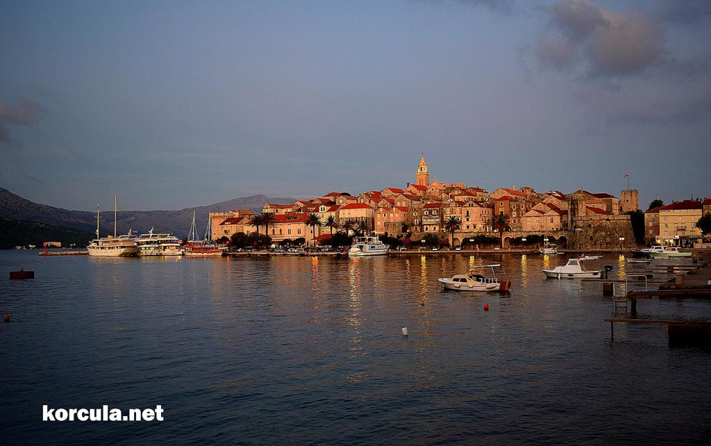 Korcula town ferry port