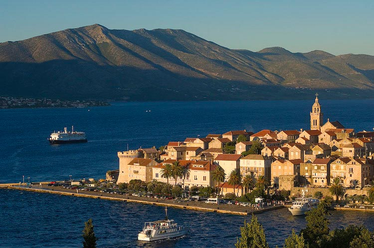 The historic old town of Korcula