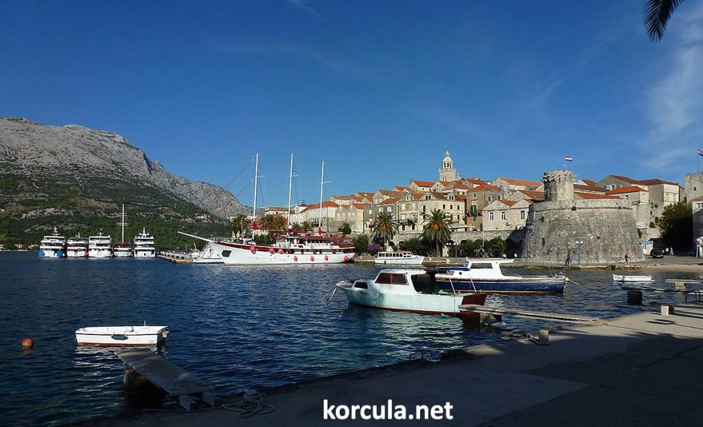views over Korcula Old Town
