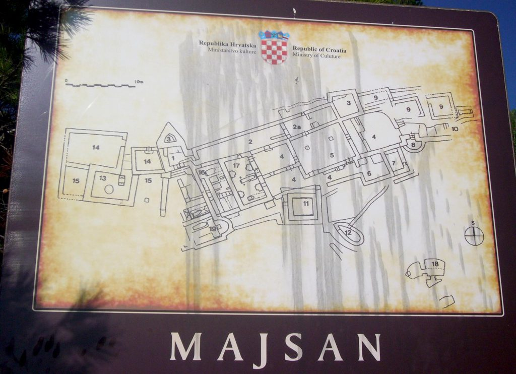 Map of the archaeological site