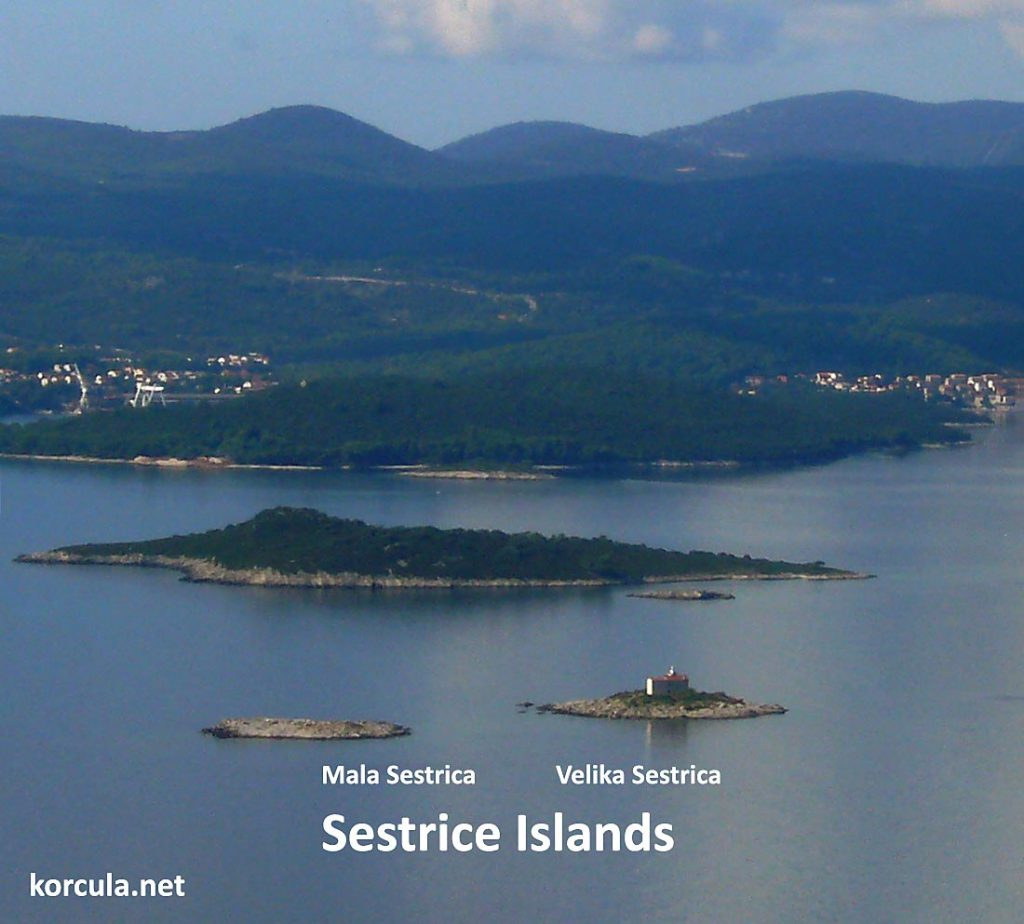 Mala and Velika Sestrica, Sestrice islands, Korcula