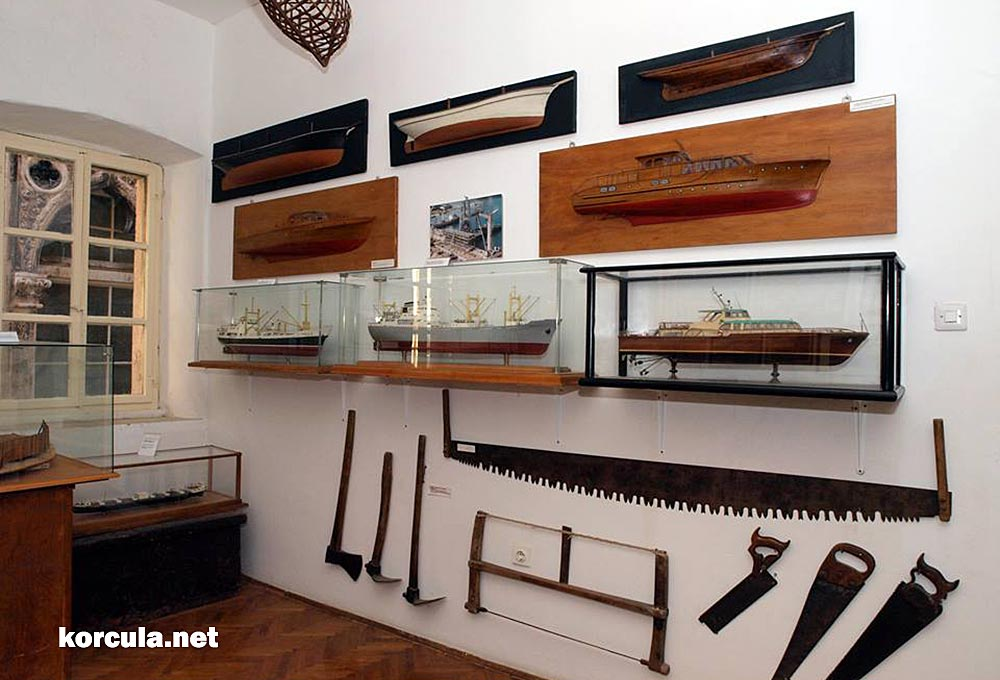 Traditional shipbuilding tools - museum display