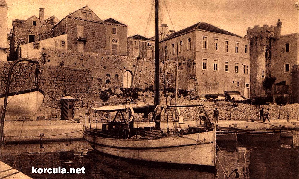 Traditional boats in Korcula port