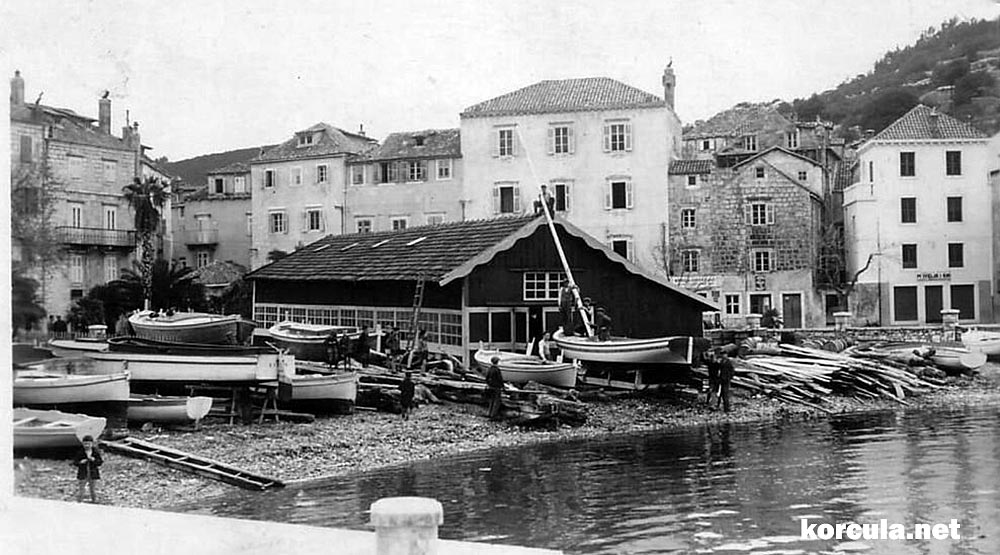 Shipyard in the western part of Korcula