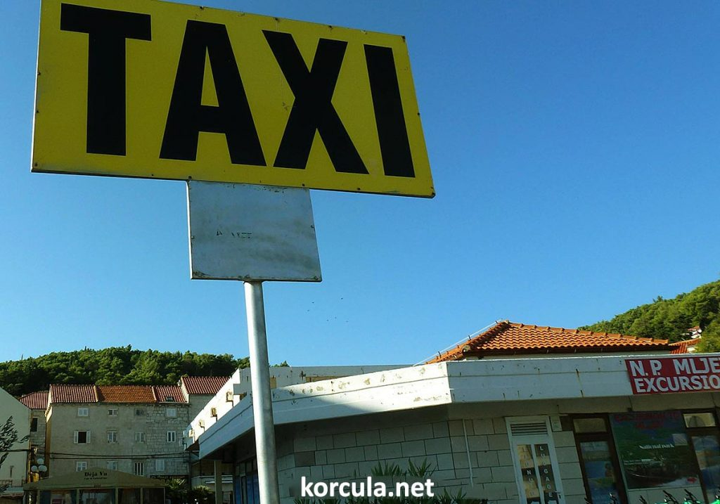 Taxi station in Korcula