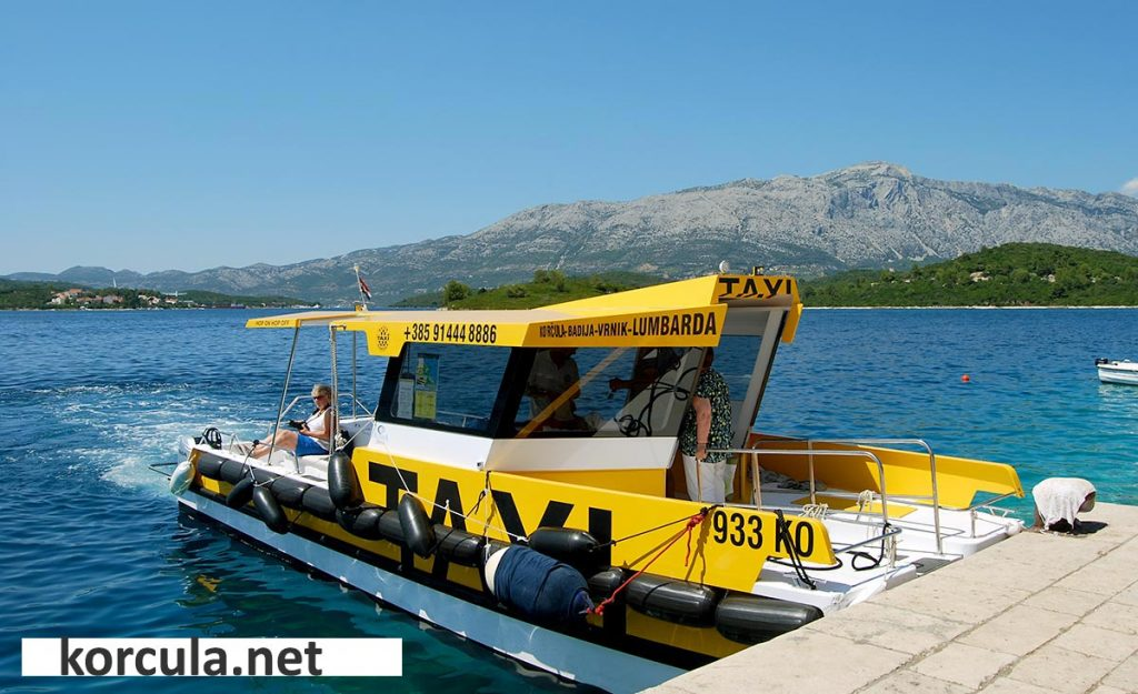 Water taxi on Vrnik island